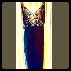 Victoria's Secret Black Lace Trimmed Chemise L